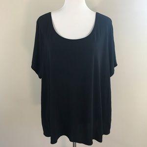 Eileen Fisher Tops - Eileen Fisher Woman Black Silk Short Sleeved Top